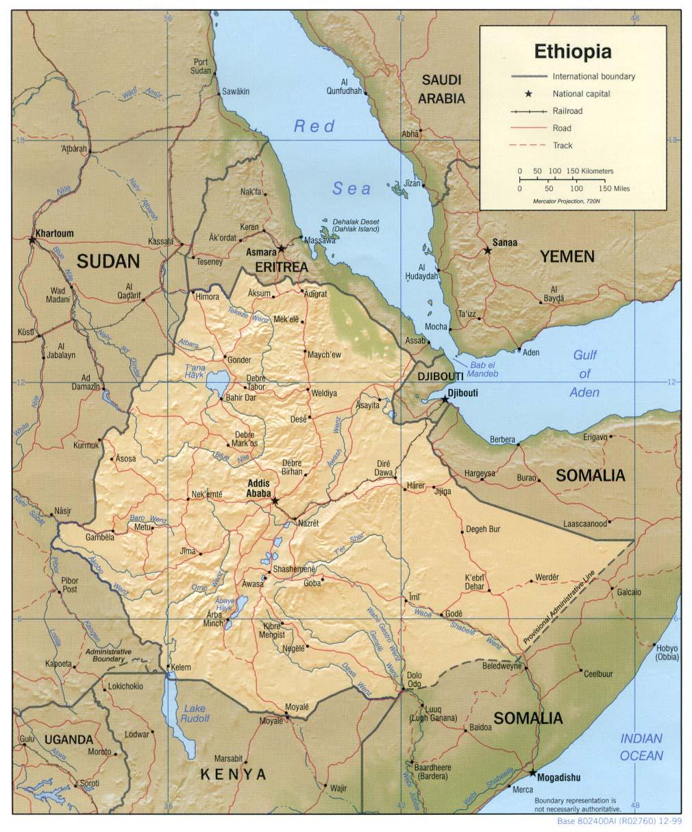 Ethiopie - relief
