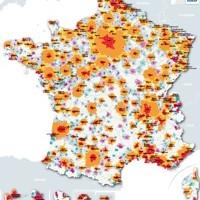 France : mise à jour des aires urbaines