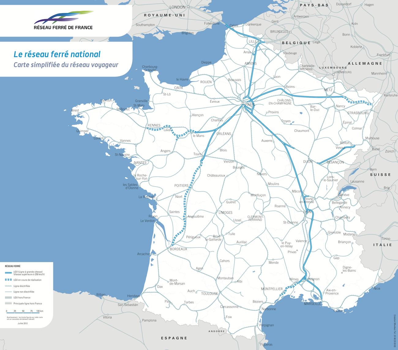France - TGV (2012) - PopulationData.net