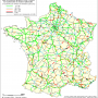 France – accidents : taux d'accidents graves (1998-2000)