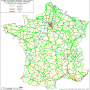 France – accidents : densité d'accidents graves (1998-2000)