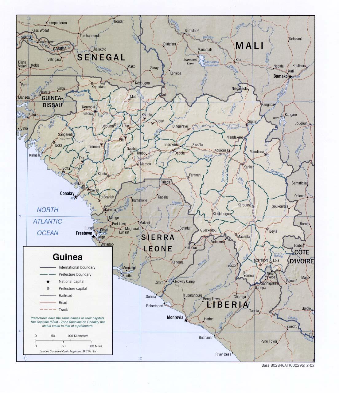 Guinée - relief