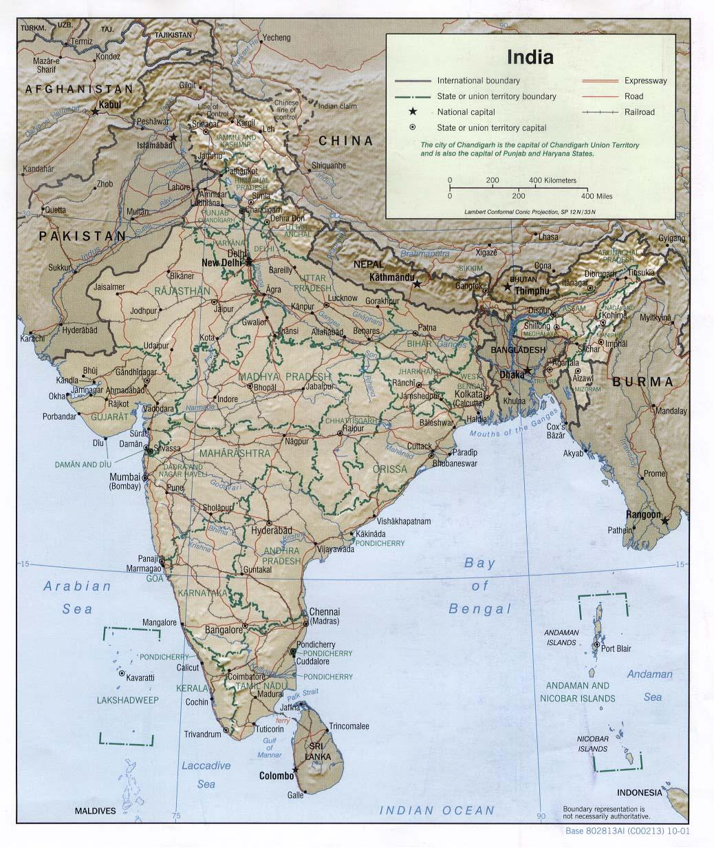 Inde - relief
