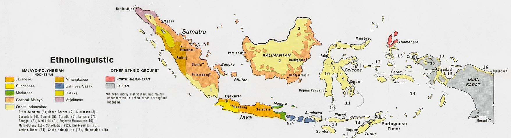 Indonésie - ethno-linguistique