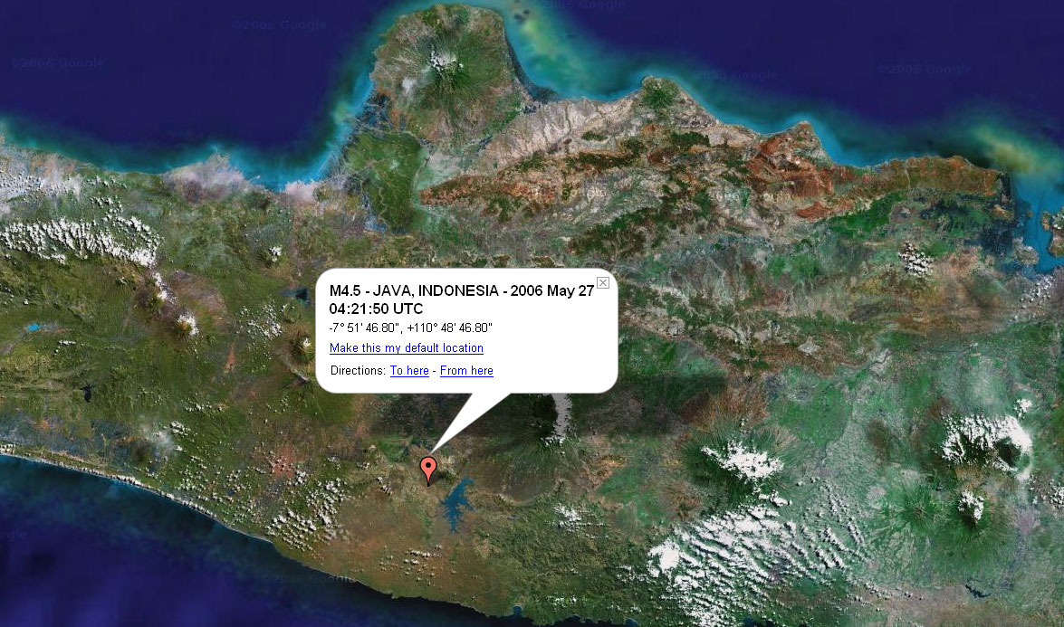 Indonésie - séisme (27 mai 2006)