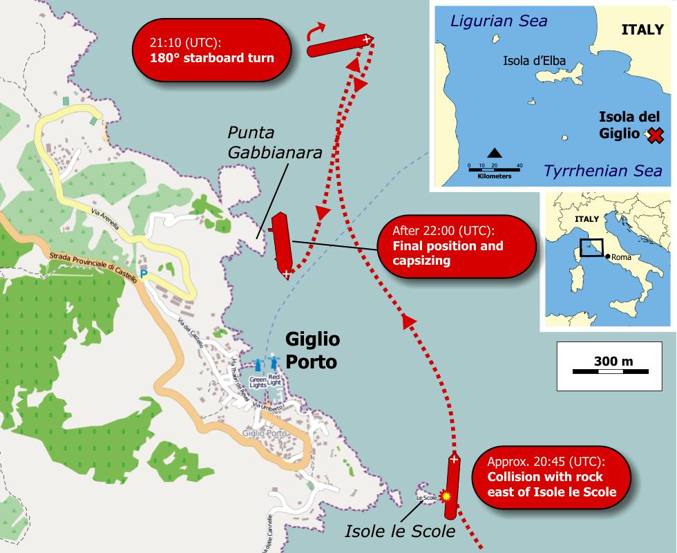 Italie giglio zone du naufrage du costa concordia for Costa neoriviera wikipedia