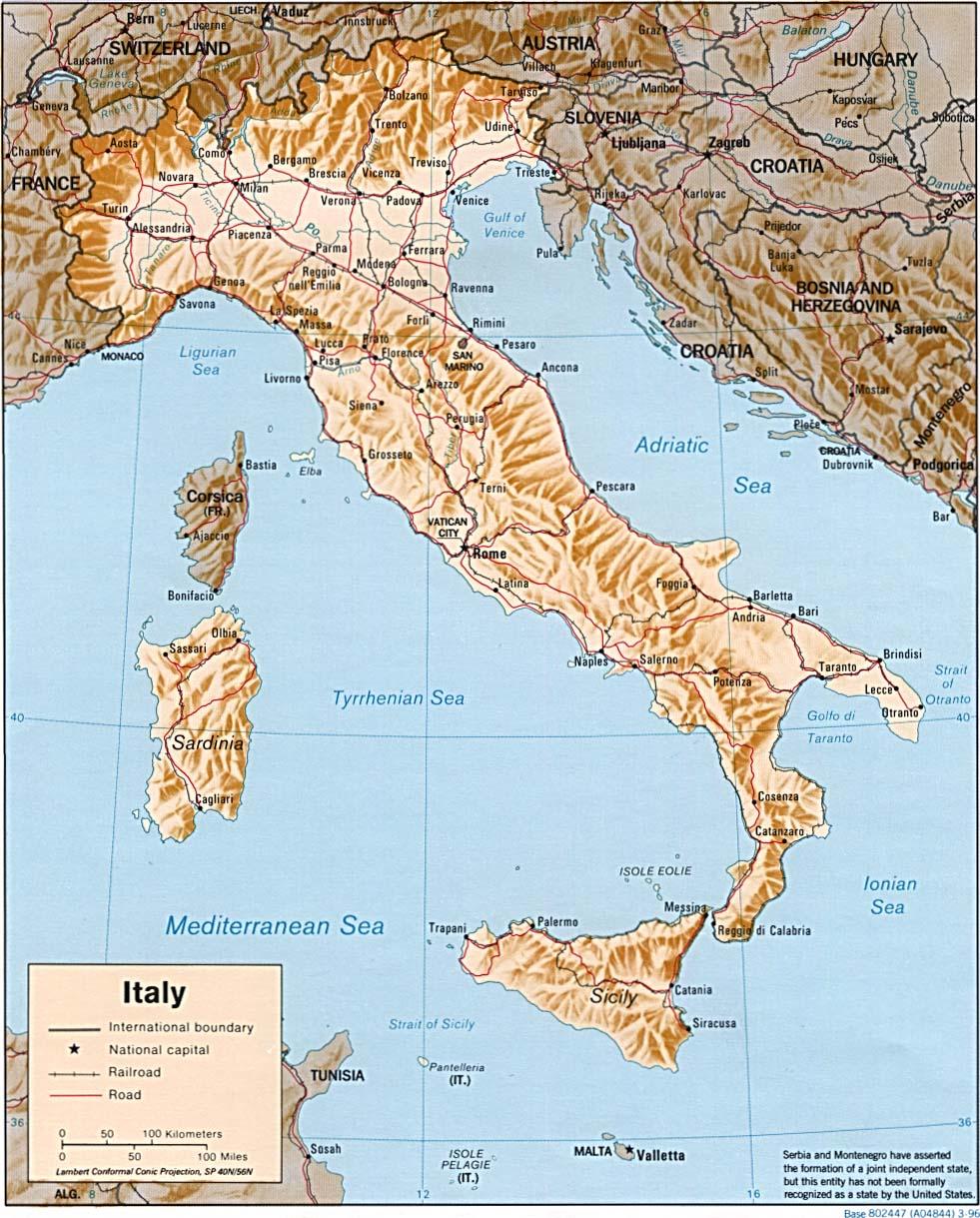 Italie - relief