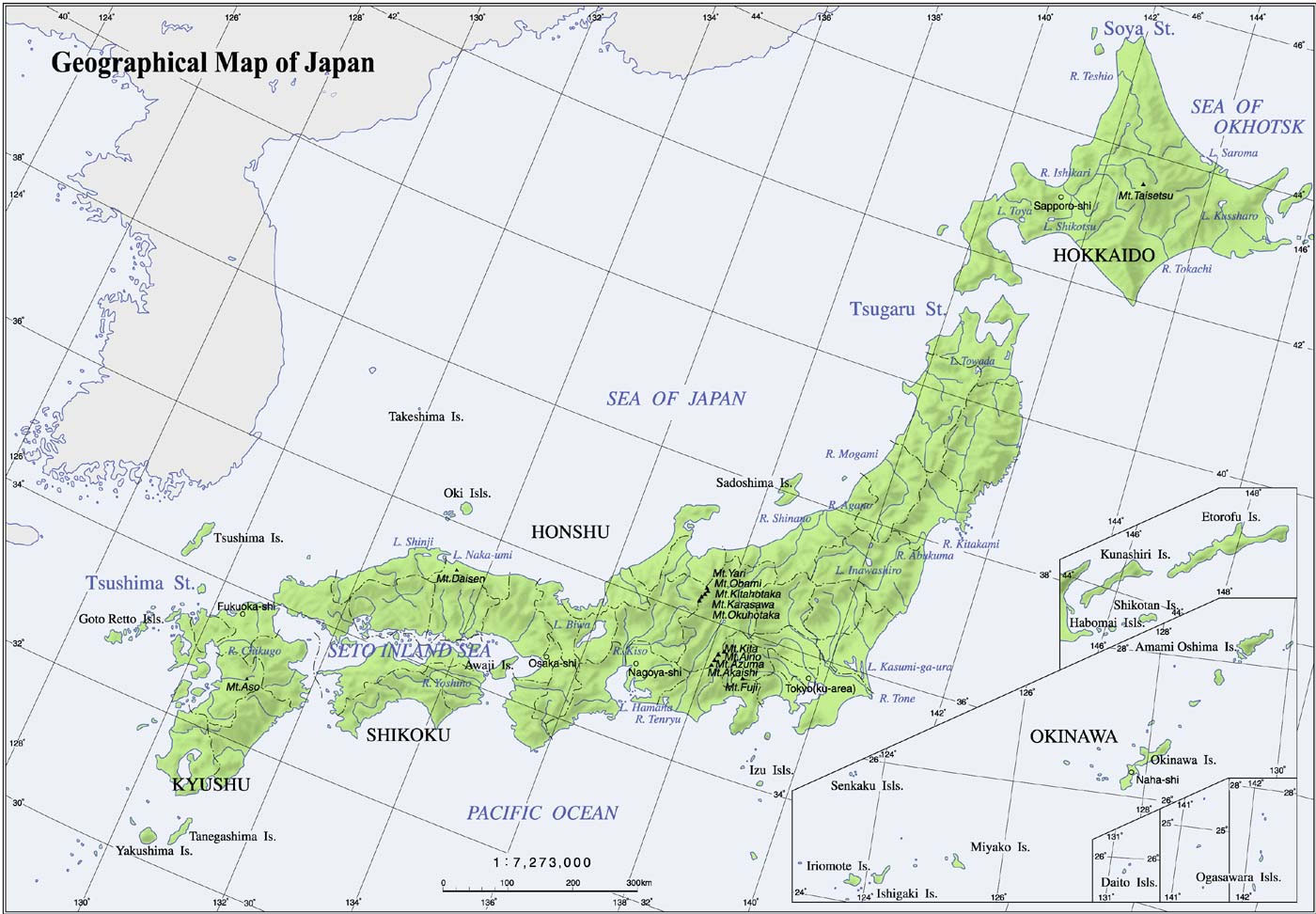 Japon - relief