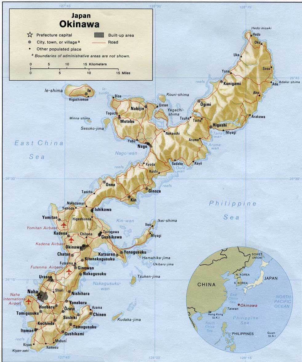 Japon   Okinawa • Carte • PopulationData.net