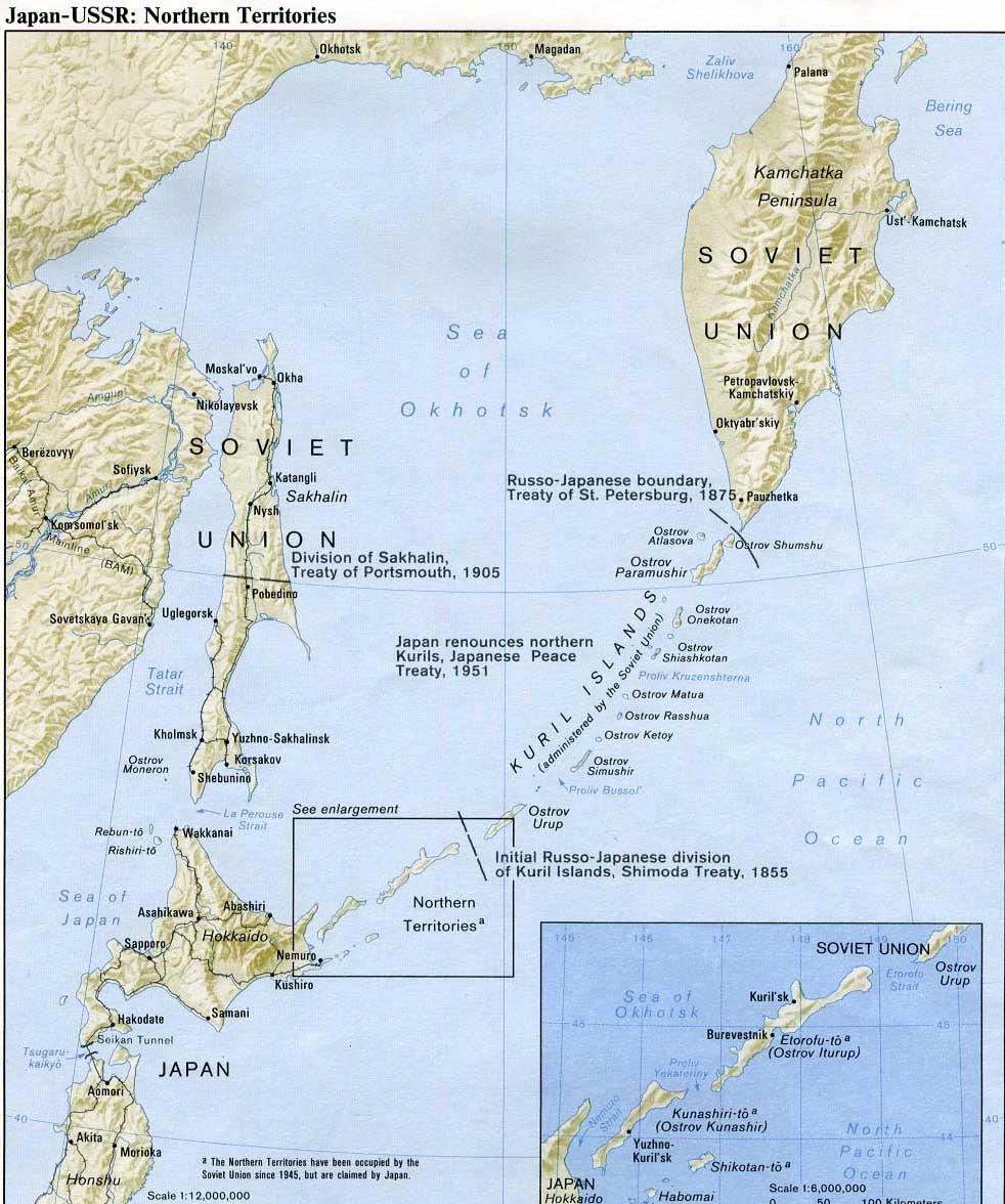 Japon - Russie : Kourils