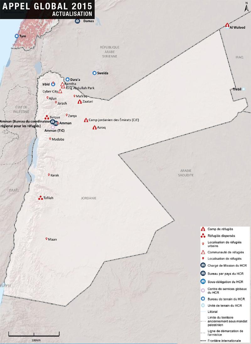 Jordanie - UNHCR : camps de réfugiés (2015)