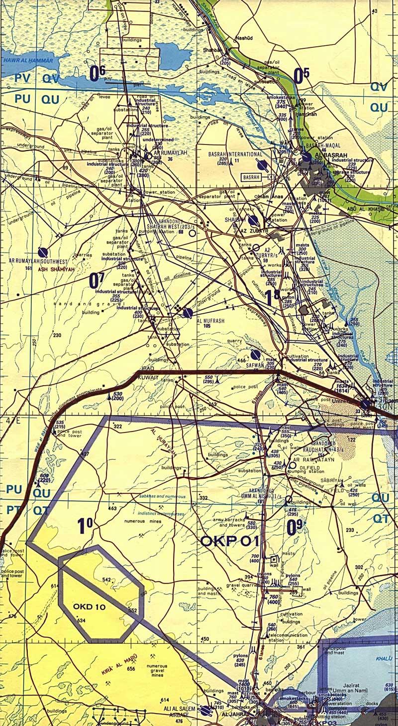 Koweït - frontière avec l'Irak