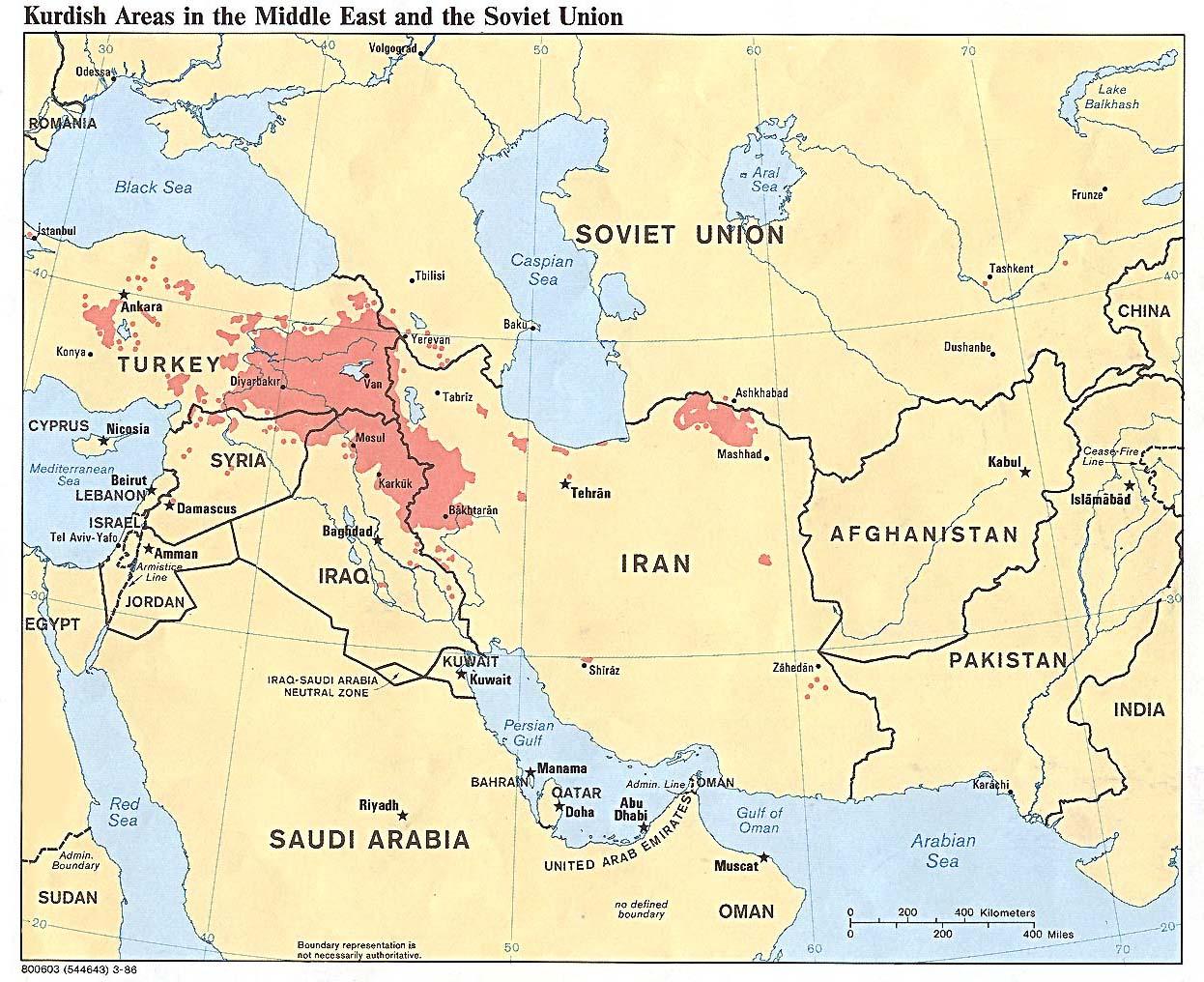 Kurdistan - zones