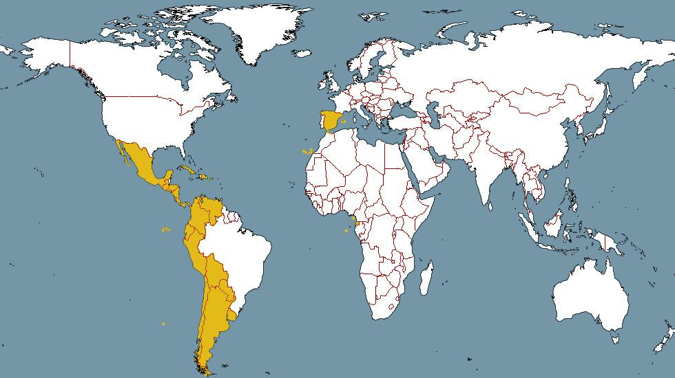 espagne carte du monde - Photo