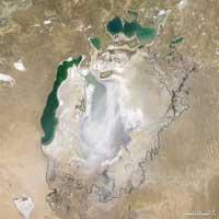 La Mer d'Aral a disparu
