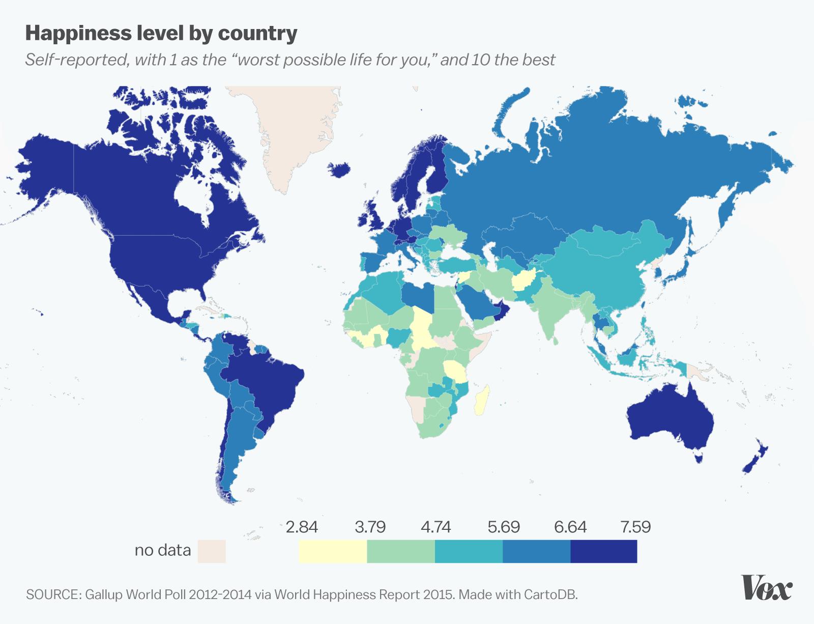 Happiest States In The Us Monde Bonheur 2014 Populationdata Net