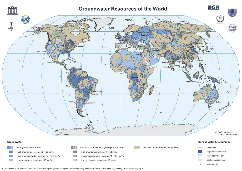 Monde - eaux souterraines