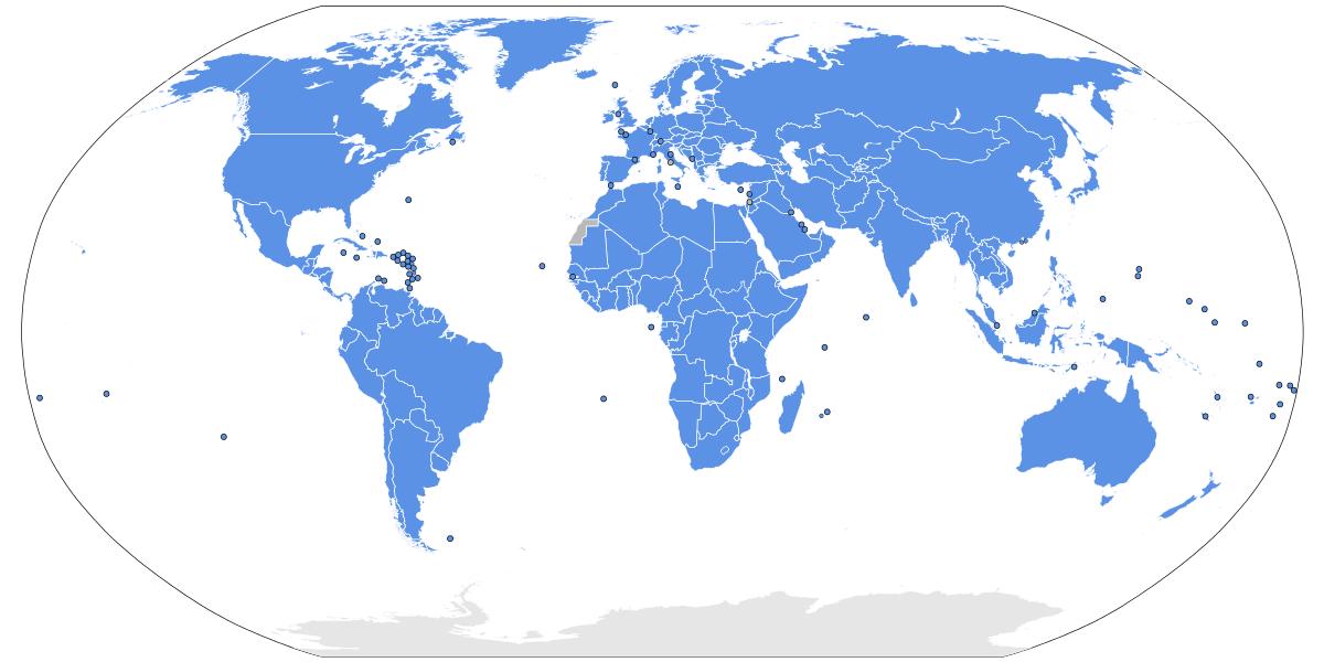 Monde - ONU - Pays membres