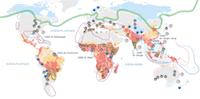 Carte des risques climatiques dans le monde