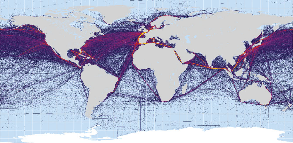 Monde - Routes maritimes