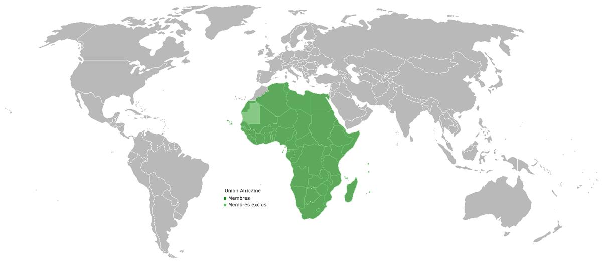 carte du monde afrique