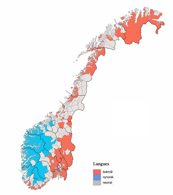 Norvège - langues