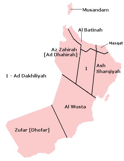Oman - administrative