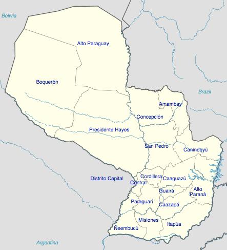 Paraguay - régions