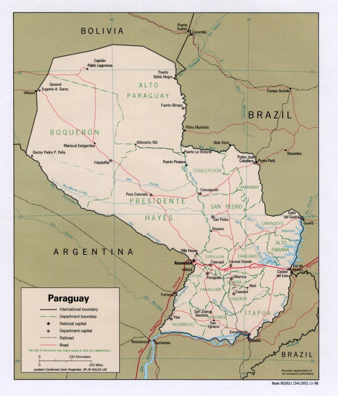 Paraguay - relief