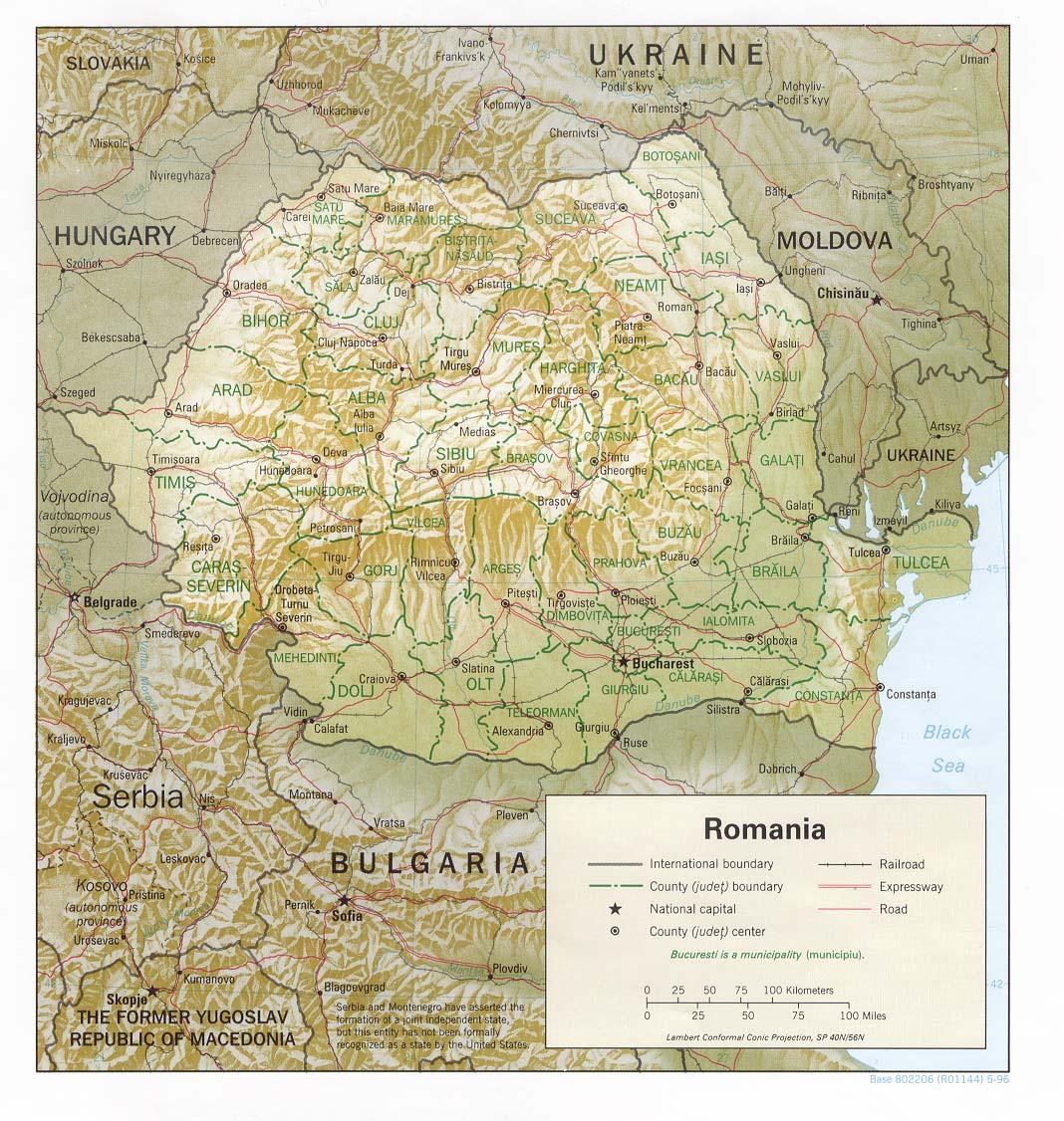 Roumanie - relief