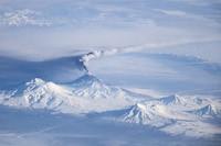 Volcan Klioutchevskoï en éruption vu de l'espace