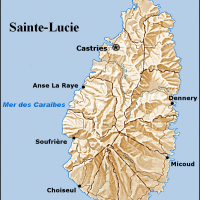 Sainte-Lucie – relief