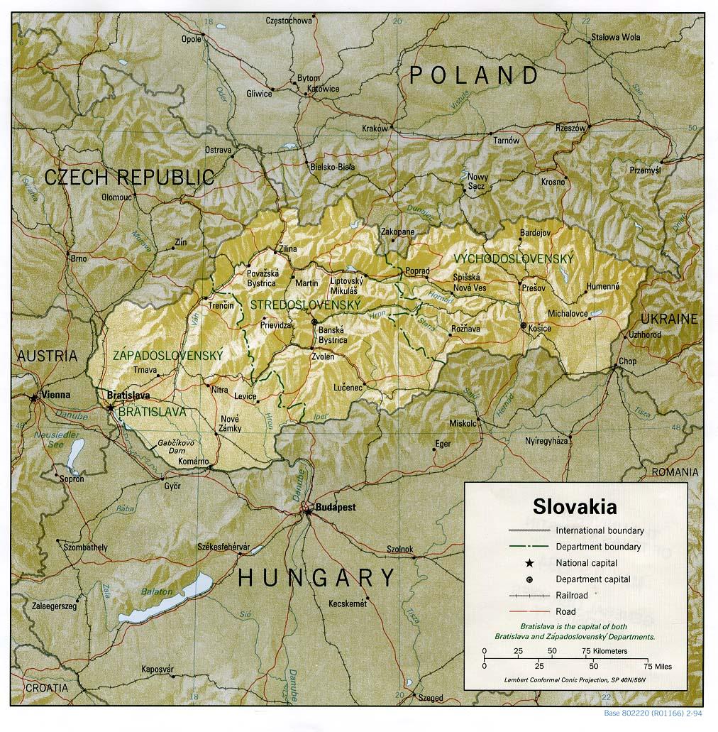 Slovaquie - relief
