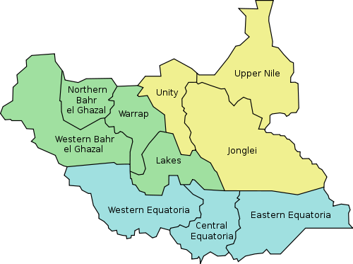 Soudan du Sud - administrative