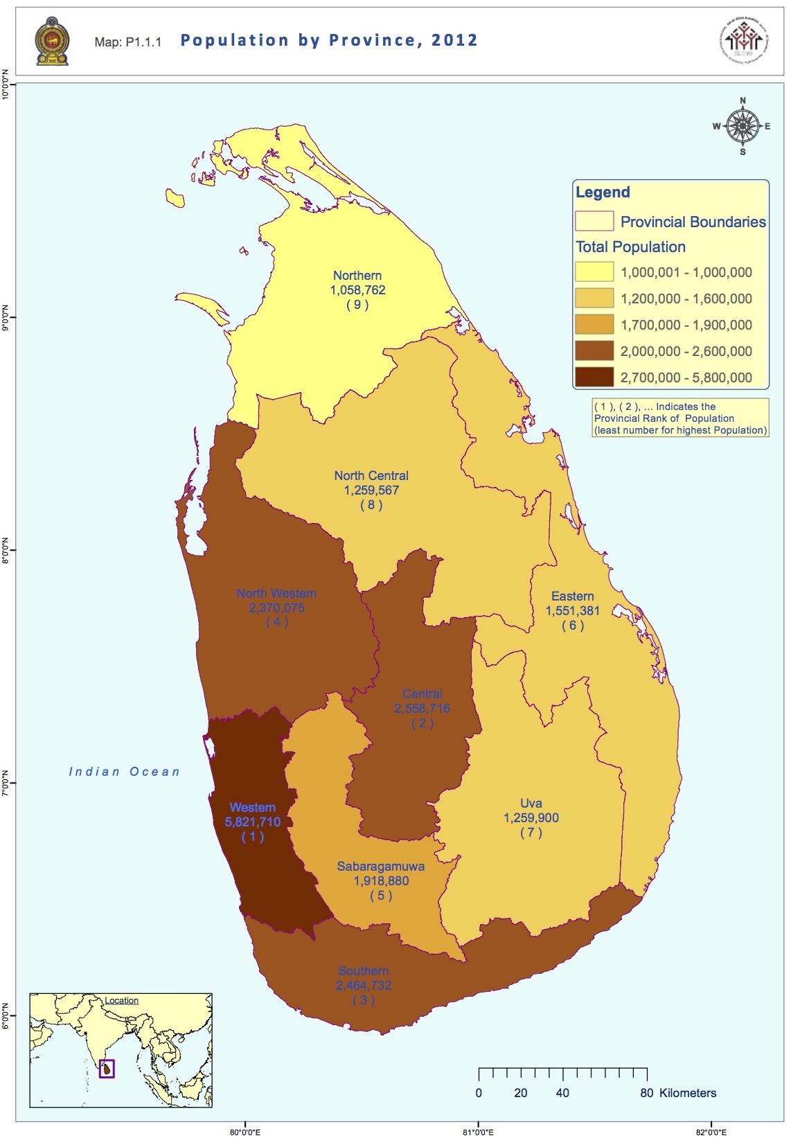 Carte Du Sri Lanka Ville En Far
