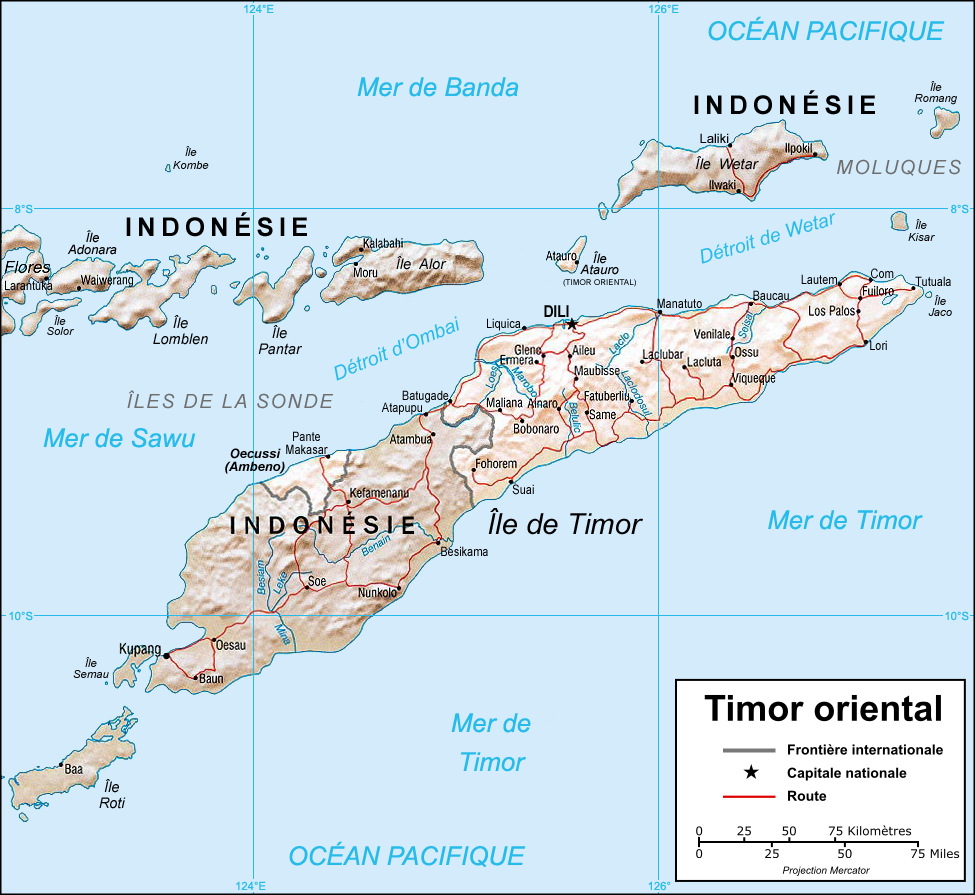 Carte Orient Extreme Carte Satellite Timor Oriental