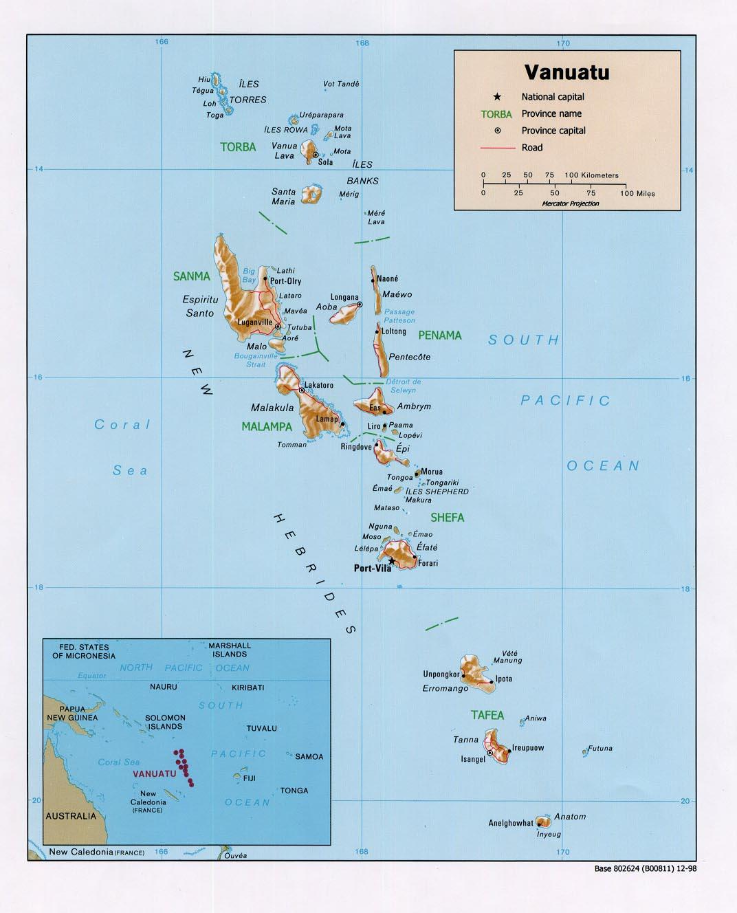Vanuatu - relief