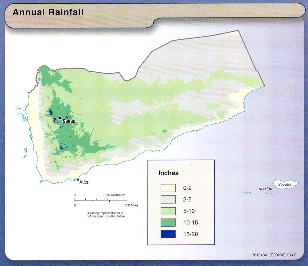Yémen - précipitations