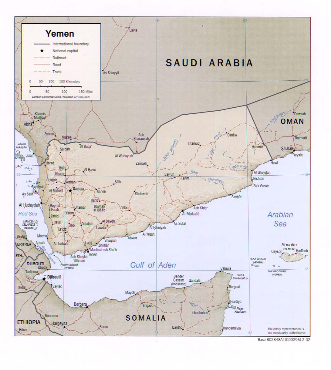 Yémen - relief